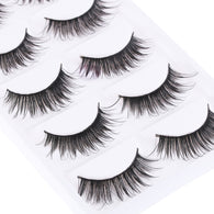 5 Pairs Natural Very Long Black Thick False Eyelashes