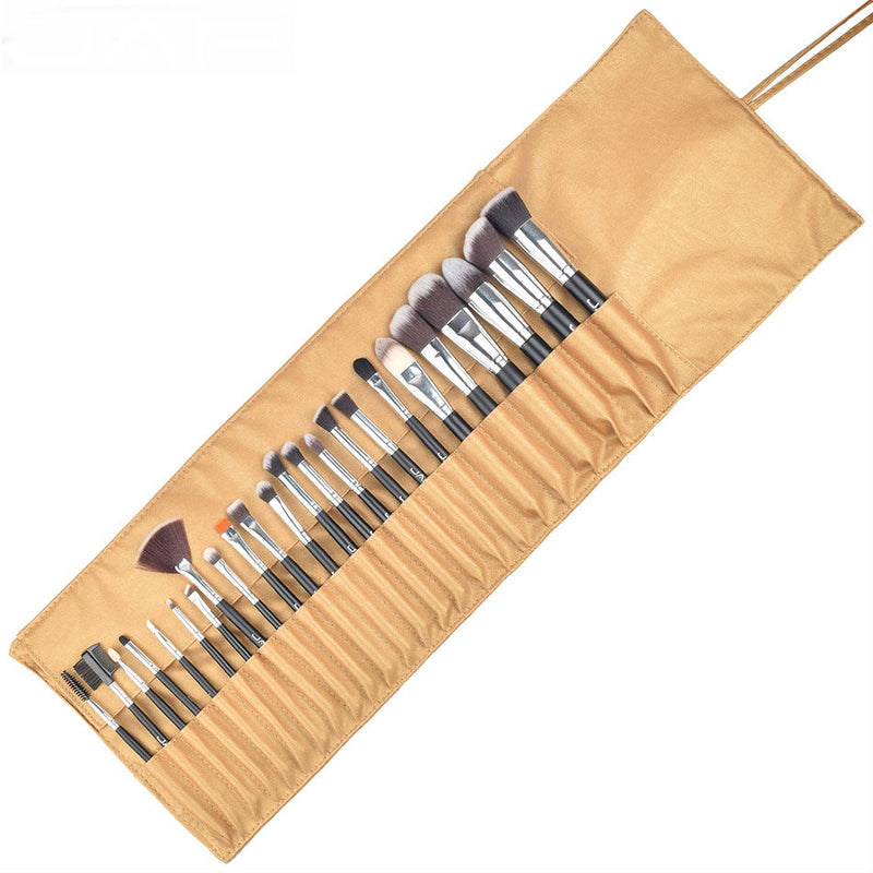 24 piece Premium Makeup Brush Set with Leather Case