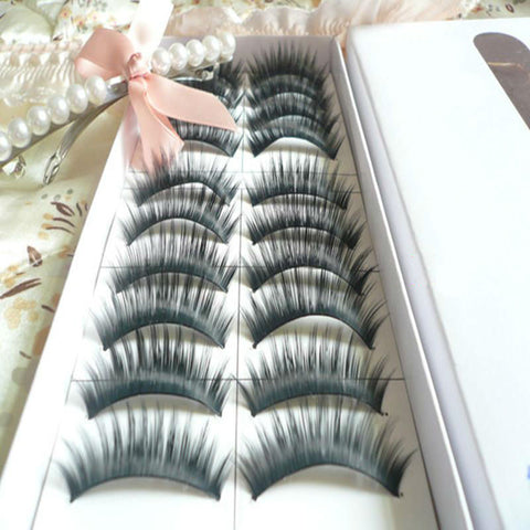10 Pairs Thick Long False Eyelash
