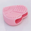 Heart Shape Silicone Brush Cleaning Pad