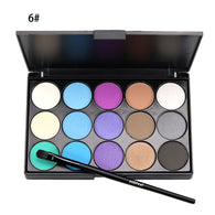 15-Color Matte Finish Eyeshadow Palette