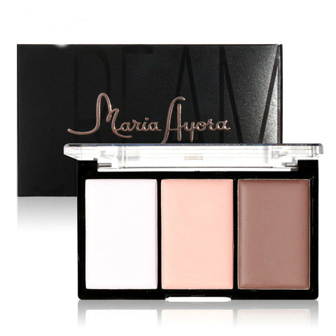 3 Color Cream Highlight & Contour Palette