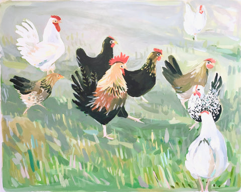 Birds of the Field No. 5 - 24x30