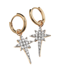 Fallen Star Hoop Earrings by Sophie Lis