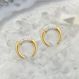 FALLEN MOON STUD EARRINGS