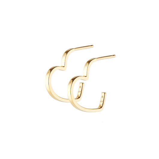 LOVE HEART HOOP GOLD
