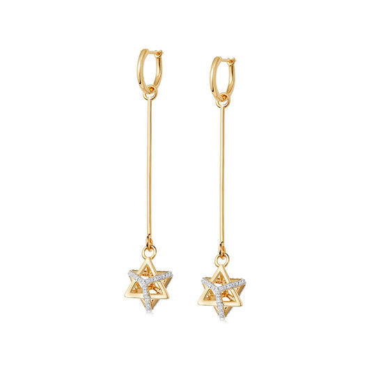 ROCKSTAR DROP DIAMOND HOOPS