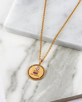LOVE PENDANT (GOLD SURROUND)