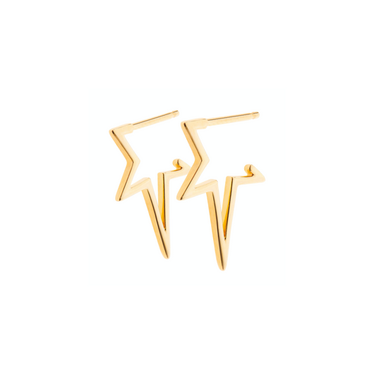 SHOOTING STAR GOLD HOOPS