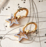SIRIUS STAR HOOP EARRINGS