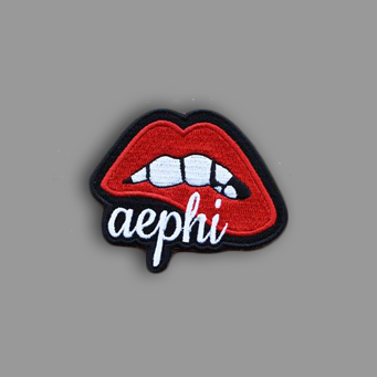 Alpha Epsilon Phi Lips Patch Sticker