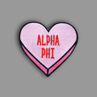 Alpha Phi Heart Patch Sticker