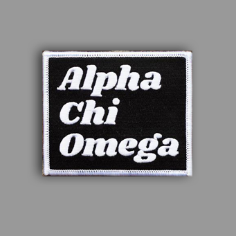 Alpha Chi Omega Patch Sticker