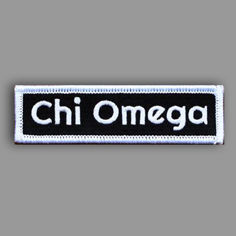 Chi Omega Patch Sticker