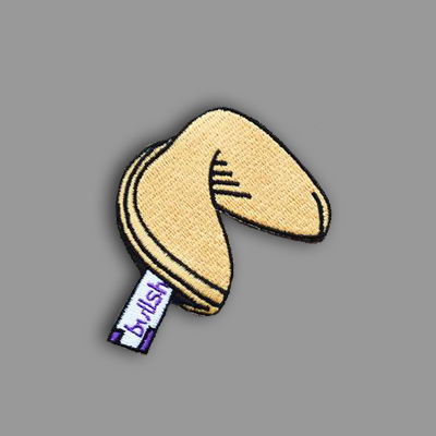 Fortune Cookie Patch Sticker