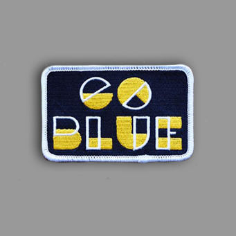 Go Blue Patch Sticker