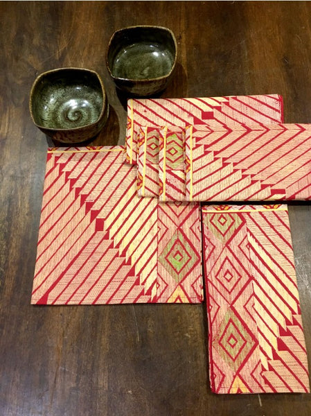 Medallion Red Napkins