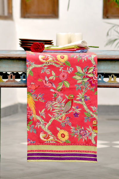 Bird Coral Table Runner, Table - Shop Handprint