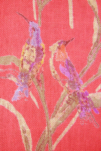 Hummingbird Coral Curtain, Curtains - Shop Handprint