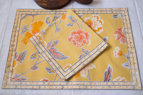 Manali Citrus Napkins, Table - Shop Handprint