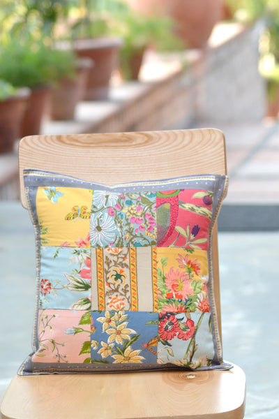 Estelle Patchwork Cushion Cover, Cushions & Covers - Shop Handprint