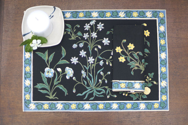 Garden Black Placemats, Table - Shop Handprint