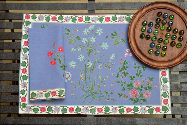 Garden Azure Placemats, Table - Shop Handprint
