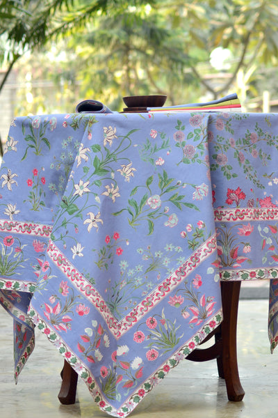 Garden Azure Tablecloth, Table - Shop Handprint