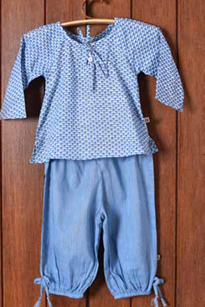 Spa Blue Girls Pajama Sets, Children's Wear - Shop Handprint
