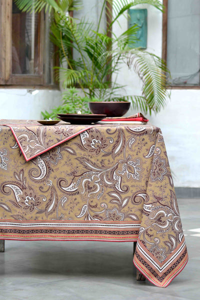 Kashmir Bronze Tablecloth