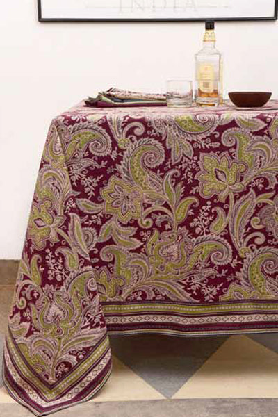 Kashmir Wine Tablecloth, Table - Shop Handprint