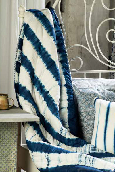 Noriko Quilted Throw, Bedroom - Shop Handprint