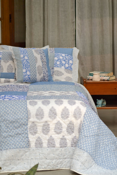 Ocean Patchwork Quilt, Bedroom - Shop Handprint