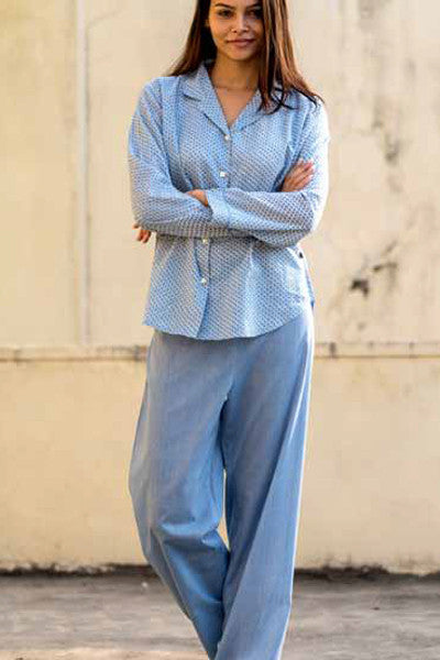 Scales Blue Pajama Set, pajamas - Shop Handprint