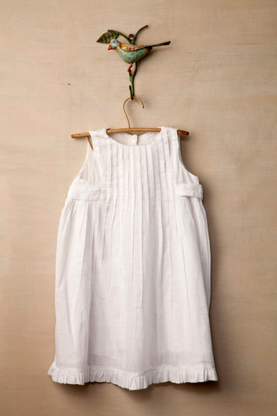 Little White Pleated Dress, Children's Wear - Shop Handprint