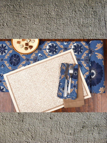 Fargana Blue Napkins, Table - Shop Handprint