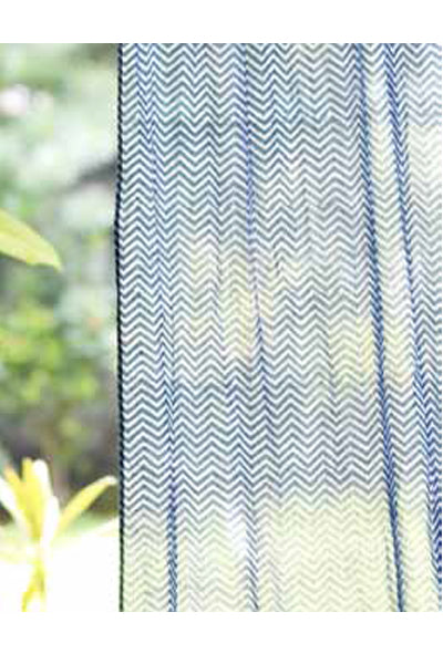Fetiye Indigo Curtain, Curtains - Shop Handprint