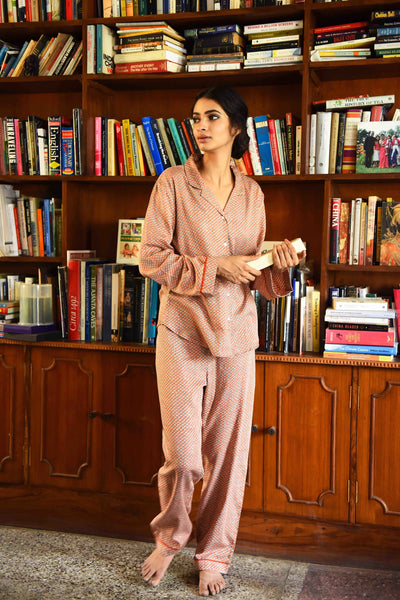 Scales Rust Pajama Set