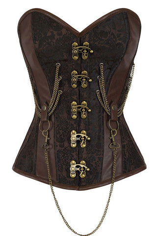 Brown Steam Punk Boned Corset