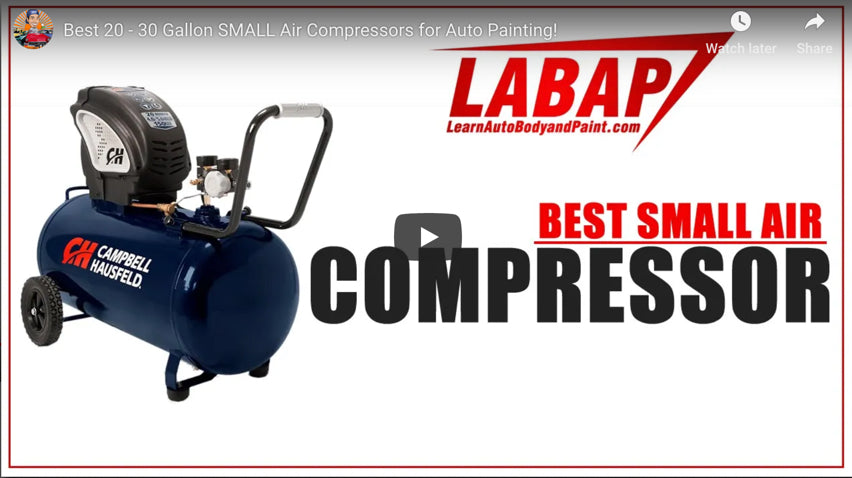 Best Small 20 - 30 Gallon Air Compressors for Auto Painting Projects
