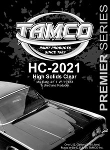 High Solids 4:1:1 Clearcoat - 1 Gallon Kit HC-2021