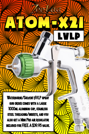 ATOM X21 Professional Spray Gun - MP LVLP Solvent/Waterborne