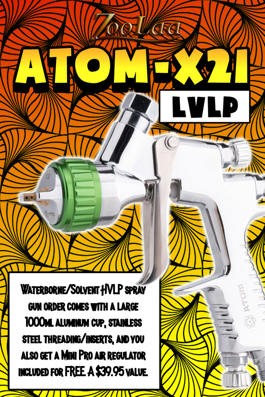 ATOM X21 Professional Spray Gun MP-LVLP Solvent/Waterborne