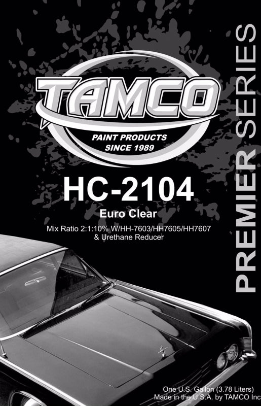 High Solids Euro 2:1 Clearcoat - 1 Quart Kit HC-2104