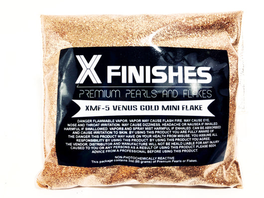 X Finishes Venus Gold Mini Flake 85g/3oz Pack