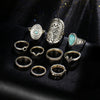 Image of Retro Boho Ring Set Gold or Silver - Use FREESHIP at checkout for free shipping