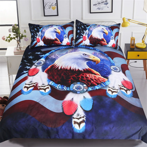 American Bald Eagle Bedding Set
