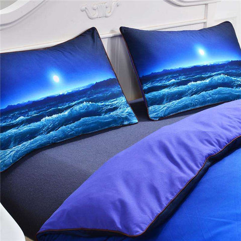 Moon & Ocean 3D Print Bedding Set
