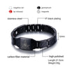 Image of Carbon Fiber & Stainless Steel Magnetic Freemason Bracelet