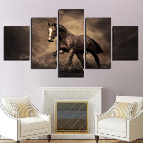 Horse in Dust 5PC Canvas